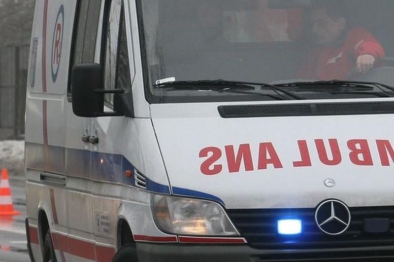 Pogotowie zabrało poturbowanego inwalidę do szpitala