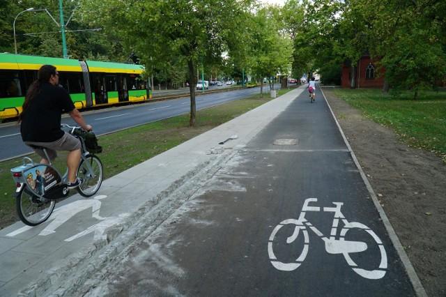 Ukończono kolejny odcinek drogi rowerowej na ul. Grunwaldzkiej.