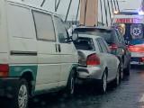 Wypadek trzech samochodów na moście Milenijnym (ZDJĘCIA)