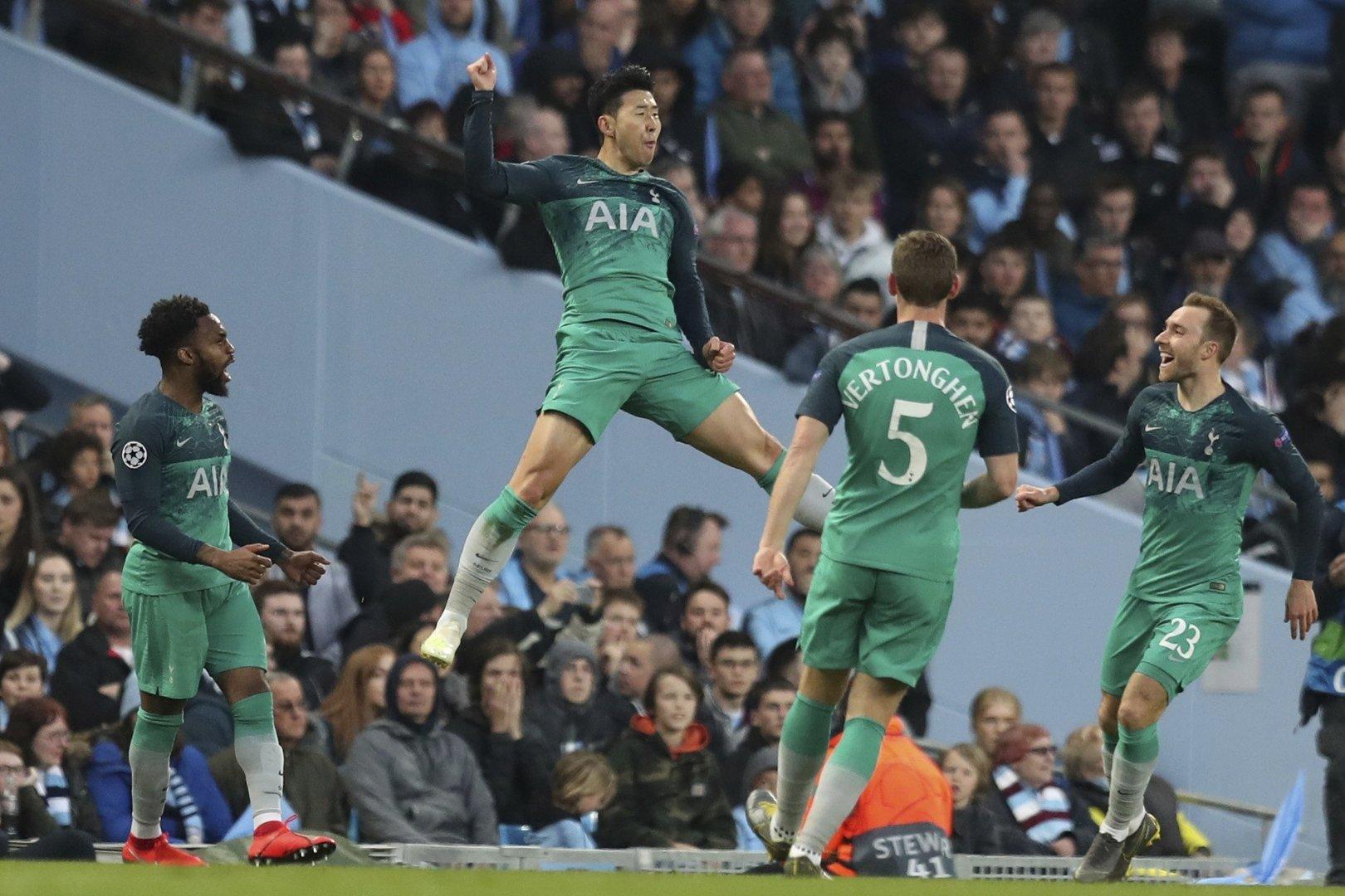 29ec3f790 Liga Mistrzów. Szalona wymiana ciosów. Manchester City z Tottenhamem ...