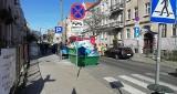 Pożar w centrum Bydgoszczy. Palił się kontener z odpadami [zdjęcia]