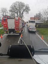 Zderzenie dwóch autobusów pracowniczych na drodze krajowej nr 26