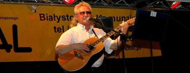 Janusz Laskowski podczas koncertu