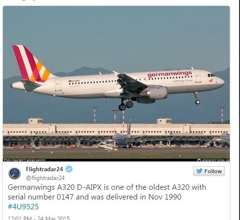 Samolot Germanwings A 320.