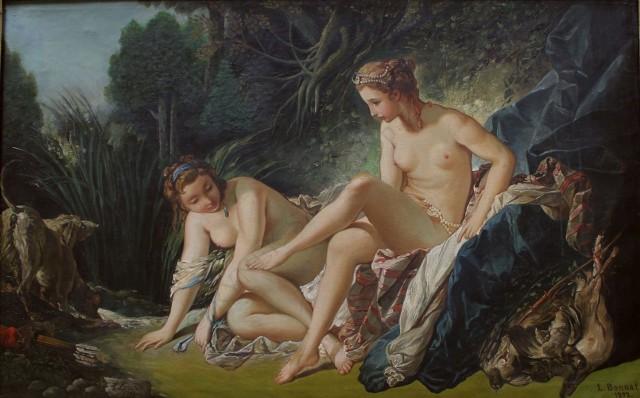 Léon Joseph Florentin Bonnat (1833-1922) wg François Boucher (1703-1770), Diana po kąpieli (1892)
