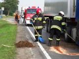 Wyszki: Zderzenie dwóch ciężarówek. Są utrudnienia na krajowej 11 [ZDJĘCIA]