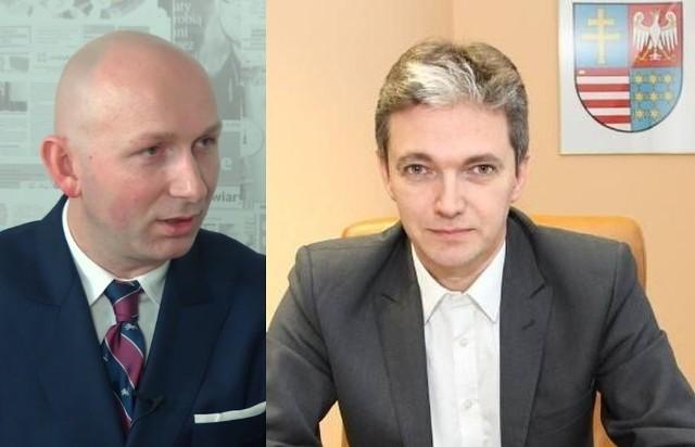 """Od lewej prezes Specjalnej Strefy Ekonomicznej """"Starachowice"""" Marcin Perz i marszałek województwa Adam Jarubas."""
