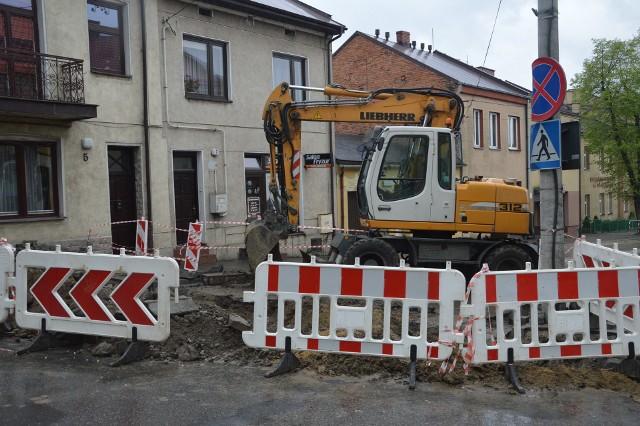 Ulica Kościuszki w trakcie modernizacji