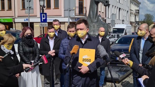 Szymon Hołownia odwiedził wschodnią Wielkopolskę. Celem było ogłoszenie powstania regionalnych struktur partii w Koninie, Kole i Kaliszu.