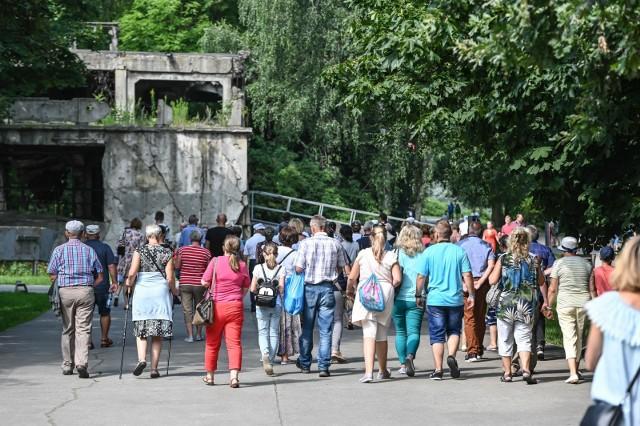 Tłumy gdańszczan i turystów na Westerplatte, sobota 28 lipca 2019 r.