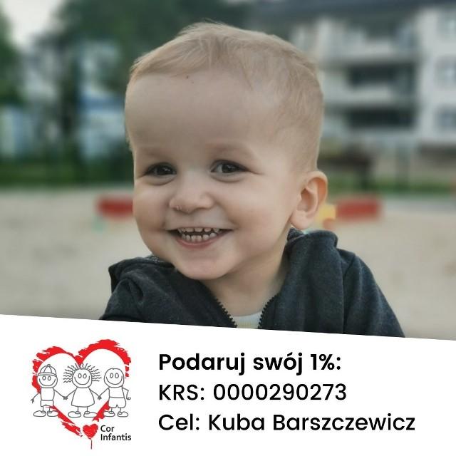 Kuba Barszczewicz w maju skończy 3 lata. Urodził się z HLHS - jedną z najcięższych wad serca