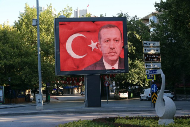 Billboard z Erdoganem