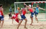 Półfinały Mistrzostw Polski w Piłce Ręcznej Plażowej na plaży Delfin w Gminie Grudziądz [zdjęcia]