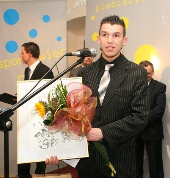 Waldemar Sobota - laureat 2. miejsca wśród sportowców.