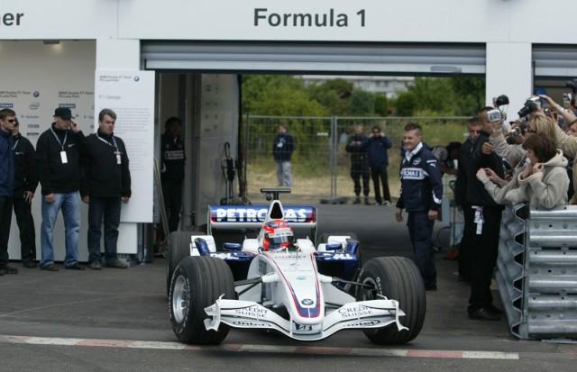 Robert Kubica karierę w Formule 1 zaczynał w teamie BMW Sauber