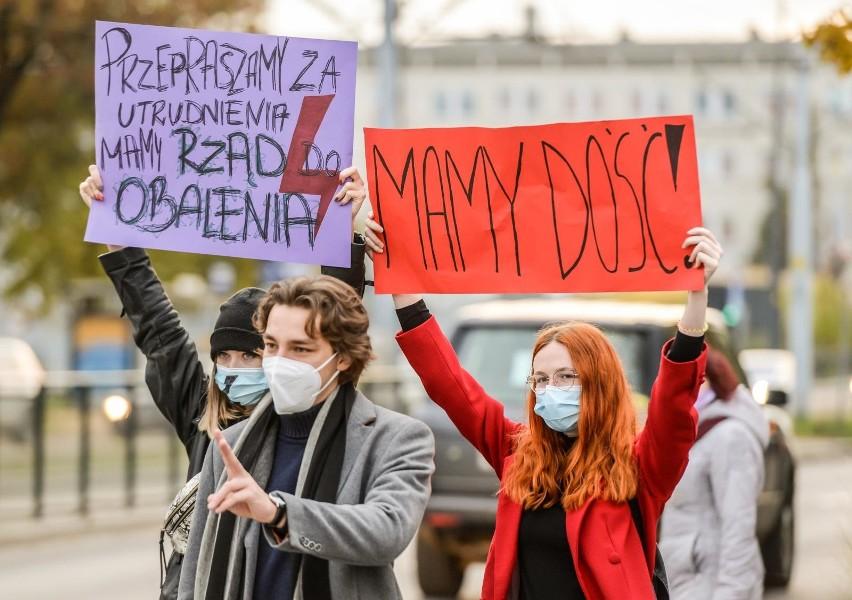 Protesty w Trójmieście - październik 2020