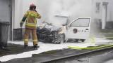 Koszęcin: pożar samochodu dostawczego. Kierowca wydostał się z płonącego pojazdu