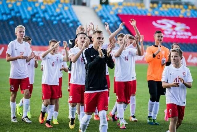 Tak cieszyli się młodzi reprezentanci Polski po wygranej 12:0 z Litwą. Fot. Tomasz Czachorowski