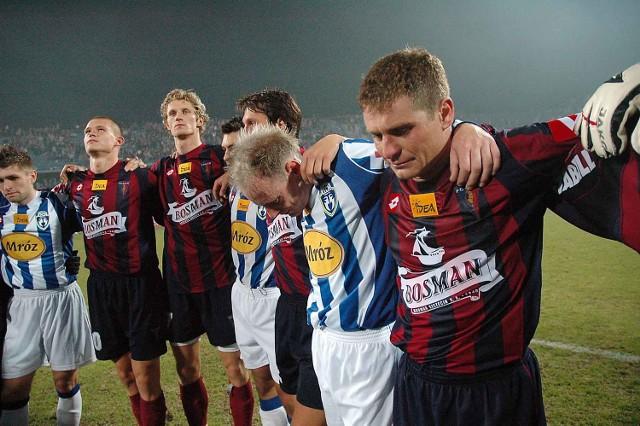 Twarze piłkarzy tuż po przerwaniu meczu mówią same za siebie.