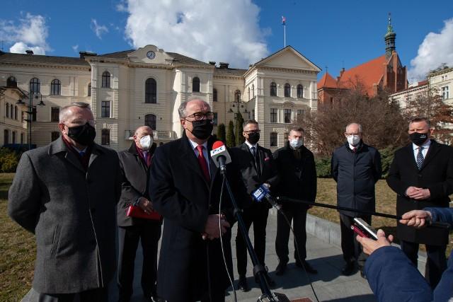 Wicemarszałek Włodzimierz Czarzasty spotkał się m. in. z prezydentem Bydgoszczy Rafałem Bruskim.