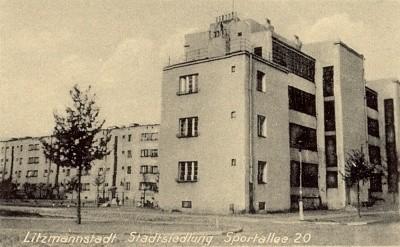 Osiedle Montwiłła-Mireckiego na pocztówce z czasów niemieckiej okupacji.