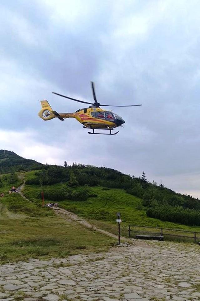 Do wypadku doszło na przełęczy Brona podczas zejścia z Diablaka.