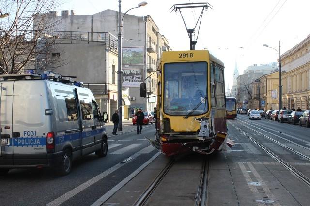 Do wypadku doszło 6 stycznia na skrzyżowaniu ulic Piotrkowskiej i Radwańskiej w Łodzi