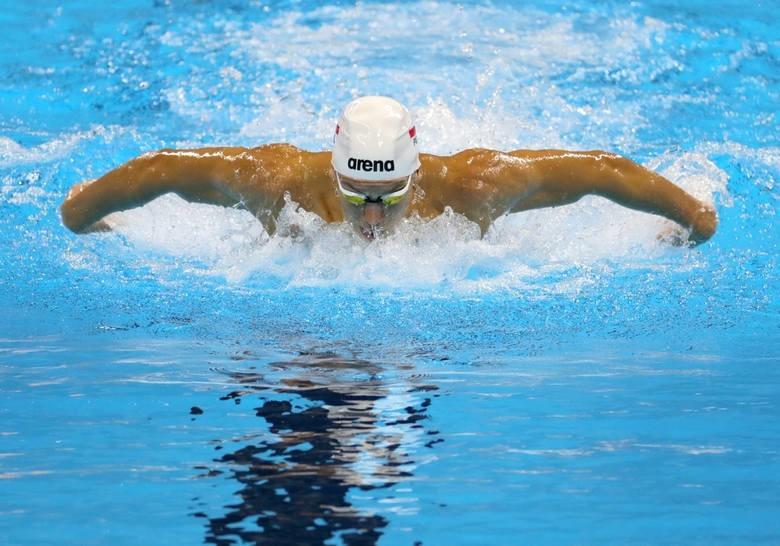 Jan Świtkowski (AZS UMCS Lublin) w stolicy Węgier ustanowił rekord życiowy na dystansie 50 m stylem motylkowym