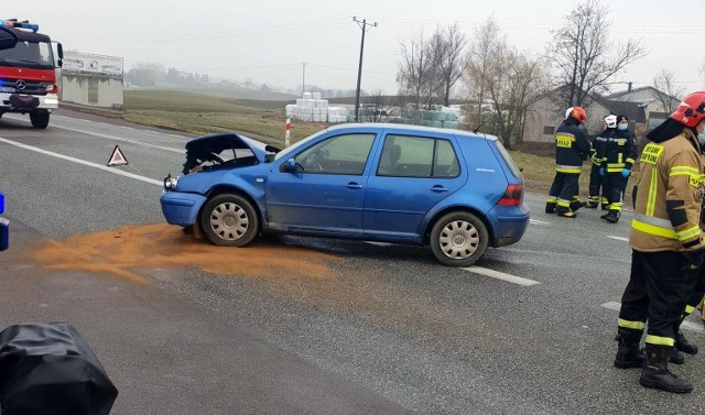 Wypadek w m. Netta Druga, w którym zderzyły się trzy samochody, ostatecznie został zakwalifikowany jako kolizja