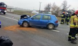 Netta Druga: Wypadek na DK 61. Zderzyły się trzy samochody, jedna osoba niegroźnie ranna