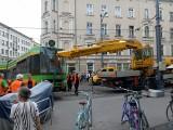 Marcinkowskiego: Wykolejenie tramwaju MPK Poznań w centrum miasta. Uwaga na utrudnienia [ZDJĘCIA]