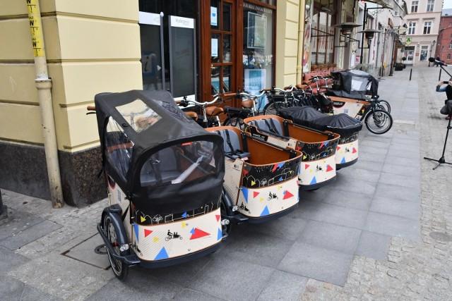Dziesięć rowerów cargo jest już dostępnych w Bydgoszczy. Projekt został zrealizowany w ramach BBO.
