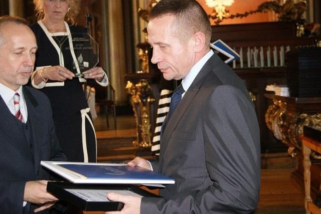 Jerzy Białomyzy, wicestarosta sokólski (po prawej).