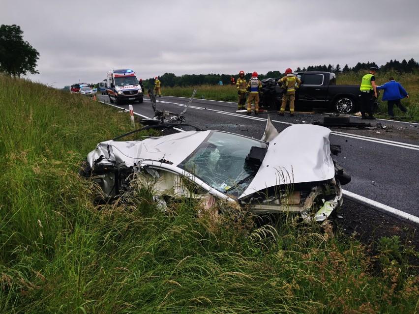 Wypadek na drodze krajowej numer 11