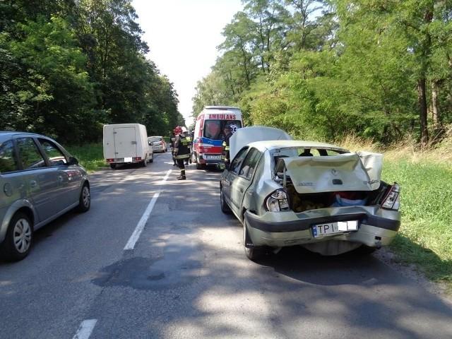 Samochody uszkodzone w czwartkowej stłuczce w powiecie pińczowskim