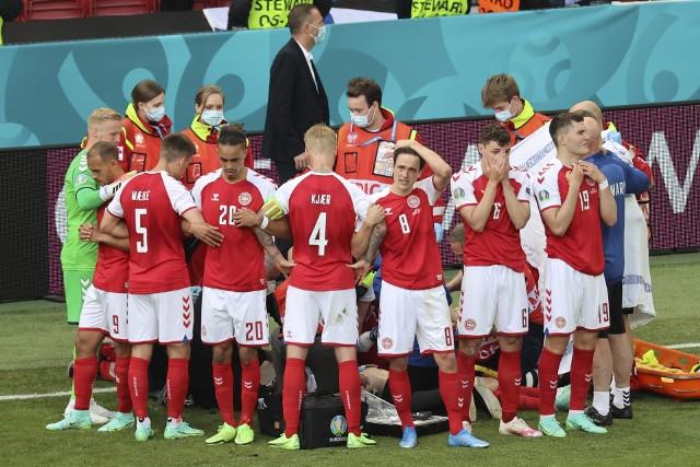 Piłkarze reprezentacji Danii podczas meczu z Finlandią przeżyli traumę