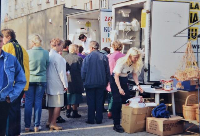 Targ w Proszowicach 20 lat temu