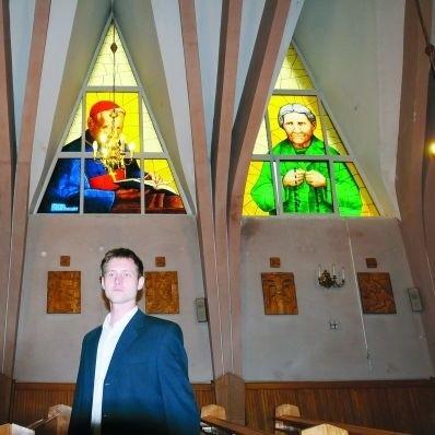 Michał Selerowski nad pierwszymi w swym życiu witrażami pracował dwa i pół miesiąca