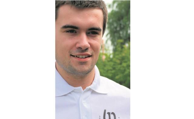 Michał Grześ rozpoczął właśnie ostatni semestr studiów inżynierskich na automatyce i robotyce