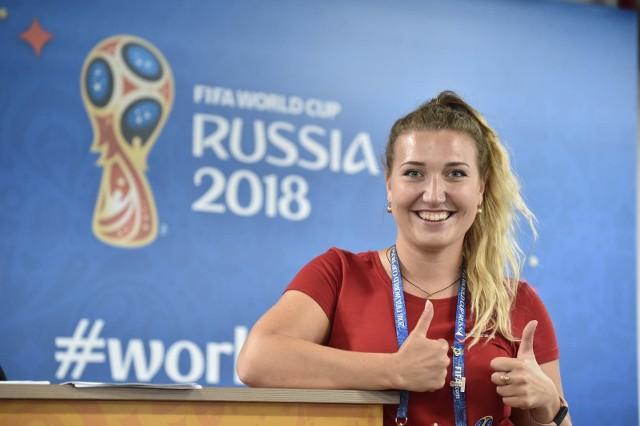 Jadwiga Dowgal - polska wolontariuszka na mundialu w Rosji
