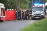"""Tragiczny wypadek niedaleko Grudziądza. Nie żyje kierowca """"osobówki"""" [zdjęcia]"""
