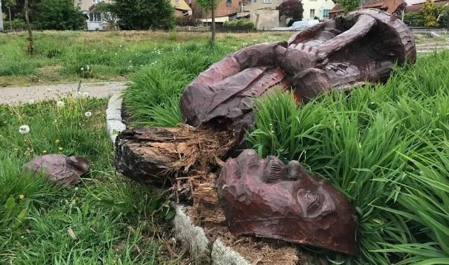 W nocy z niedzieli na poniedziałku ktoś zniszczył rzeźbę Oskara Tietza stojącą w parku jego imienia w Międzychodzie. Drewniana rzeźba została przewrócona na ziemię i straciła głowę.Zobacz więcej zdjęć ----->