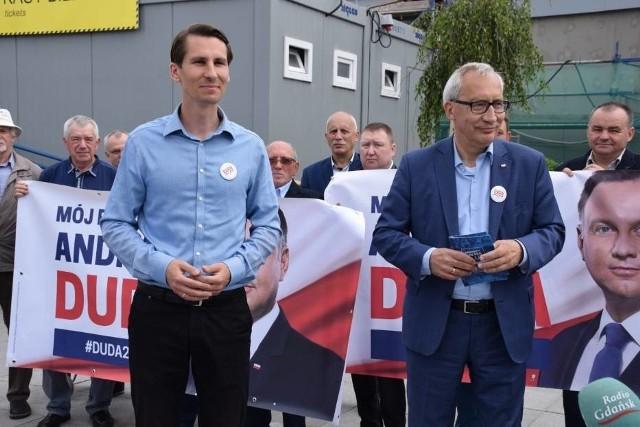 Posłowie PiS w Tczewie ws. wyborów prezydenckich, 13.06.2020 r.