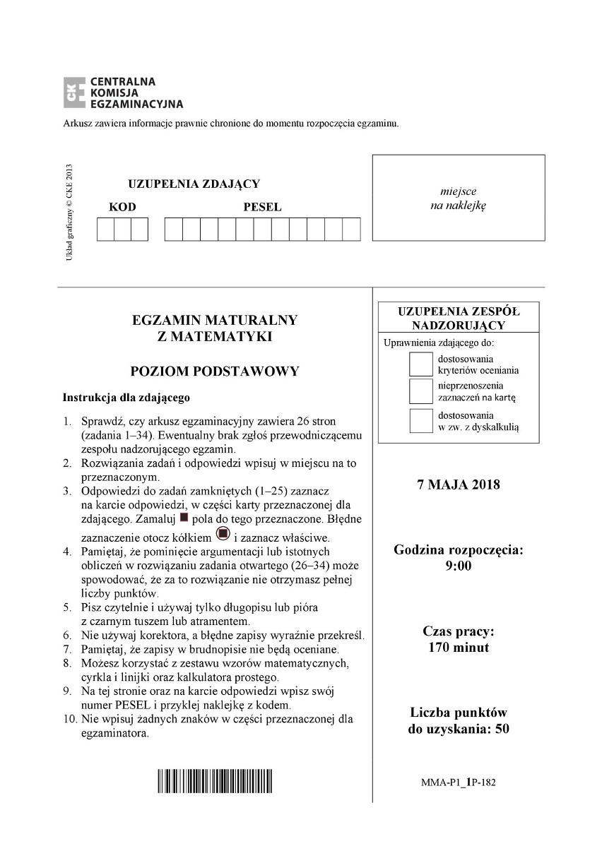 matura próbna matematyka 2020 pdf