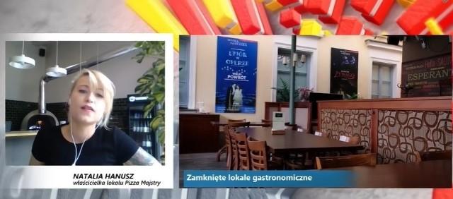 Natalia Hanusz w imieniu białostockiej branży gastro przekazała władzom miasta na konferencji prasowej online katalog rozwiązań, na które liczy po zamknięciu lokali przez rząd na skutek epidemii