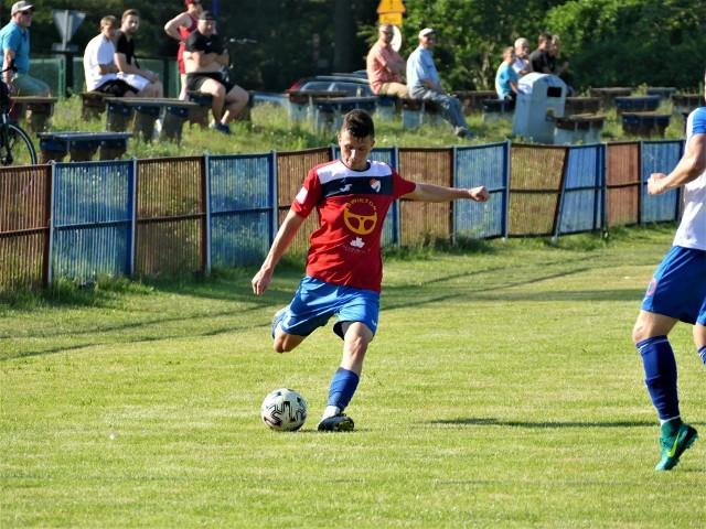 Jedną z bramek dla Gwardii Koszalin w meczu z Jantarem Ustka strzelił Kacper Grygiel.