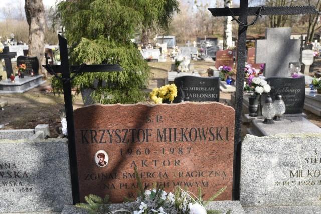 Grób Krzysztofa Milkowskiego na cmentarzu na Kluczykach