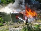 Pożar w powiecie chełmskim. Osiem zastępów straży pożarnej walczyło z ogniem. Zapalił się dom i budynki gospodarcze