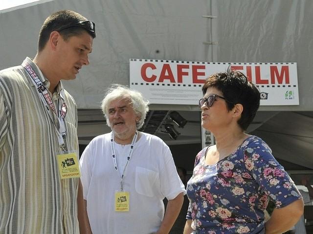 Podczas pierwszej edycji festiwalu Kozzi Gangsta Film jeszcze razem: Agnieszka Kowalska, Andrzej Buck i burmistrz Sebastian Ciemnoczołowski