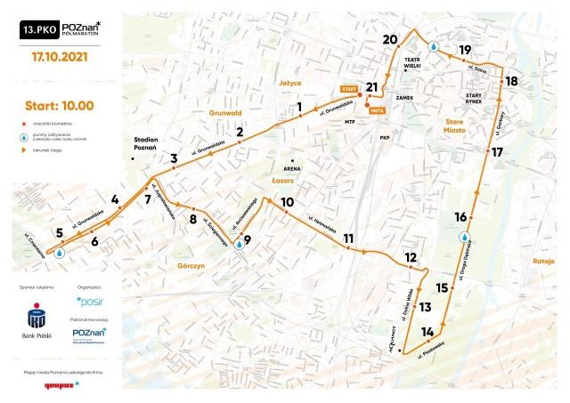 Trasa poznańskiego półmaratonu dla większości zawodników nie będzie  zaskoczeniem